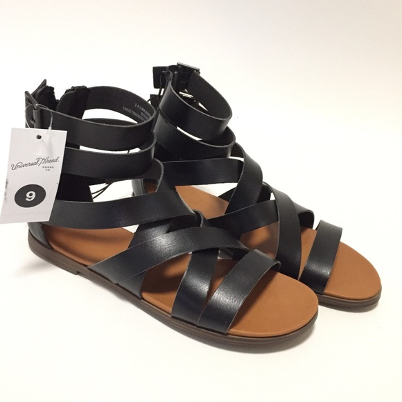 9ed6cb3ea8c Universal Thread Rosalee Gladiator Sandals Black